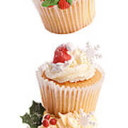 Christmas Cupcake Tower Art Print