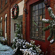 Christmas Decorations In Grants Pass Old Town  Art Print