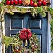 Christmas Door 8 Art Print