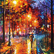 Christmas Emotions - Palette Knife Oil Painting On Canvas By Leonid Afremov Art Print