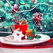Christmas Eve Table Decoration Art Print