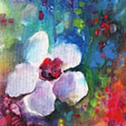 Christmas Flowers For Mom 02 Art Print