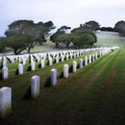 Christmas Fort Rosecrans National Cemetery  Art Print