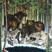 Christmas Gathering Art Print