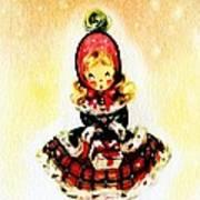 Christmas Girl Art Print