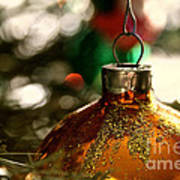 Christmas Gold Art Print