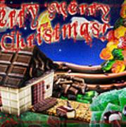 Christmas Greeting Card Iv Art Print