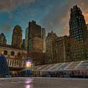 Christmas In Bryant Park Art Print by Mike Horvath