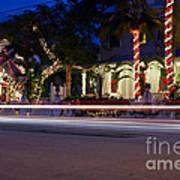 Christmas In Key West Art Print