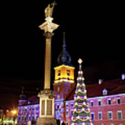 Christmas In Warsaw Art Print by Artur Bogacki