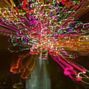 Exploding   Lights  Art Print