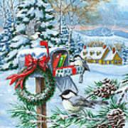 Christmas Mail Art Print