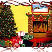 Christmas - Memories - Ribbons - Bows Art Print