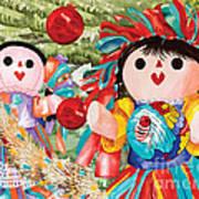Christmas Munecas Art Print