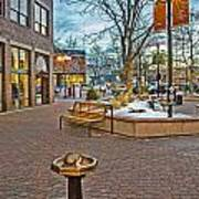 Christmas Old Town Art Print by Baywest Imaging