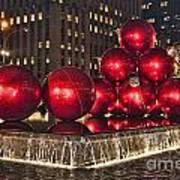 Christmas On 5th Avenue Manhattan 1 Art Print