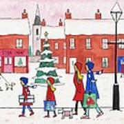 Christmas On Church St. Art Print