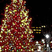 Christmas On Public Square Three Art Print