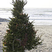 Christmas On The Beach 1 Art Print