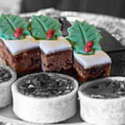 Christmas Pastries Art Print