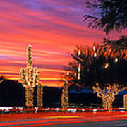Christmas, Phoenix, Arizona, Usa Art Print