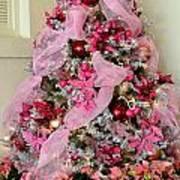 Christmas Pink Art Print