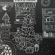 Christmas Scene Art Print