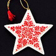 Christmas Star Art Print by Anne Gilbert