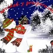 Christmas. Star. Spanish  Art Print