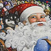 Christmas Stowaway Art Print