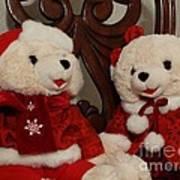 Christmas Time Bears Art Print