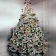 Christmas Tree Decorated By Gloria Vanderbilt Art Print