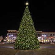 Christmas Tree Hampton City Center  Art Print