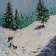 Christmas Tree Harvest Art Print