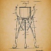 Christmas Tree Holder Patent 1927 Art Print