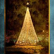 Christmas Tree In The City Art Print by Cindy Singleton