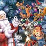 Christmas Tree-rudolph Art Print