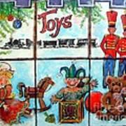 Christmas Window Art Print by Linda Shackelford