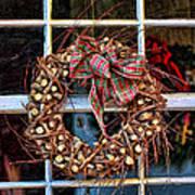 Christmas Wreath Art Print by Darren Fisher