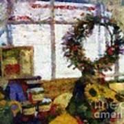 Christmastime Folk Art Fantasia Art Print