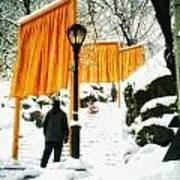 Christo - The Gates - Project For Central Park In Snow Art Print