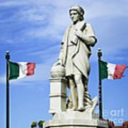 Christopher Columbus Baltimore  Statue Art Print
