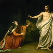 Christs Appearance To Mary Magdalene After The Resurrection Art Print