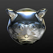 Chrome Cat Art Print