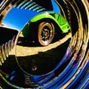 Chrome Hubcap Art Print