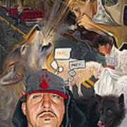 Chronicles De Burque Art Print by Eric Christo Martinez