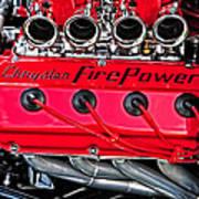 Chrysler Fire Power Art Print