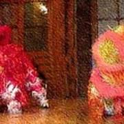 Chua Truc Lam Two Dragons - Fine Brush Art Print by Shawn Lyte