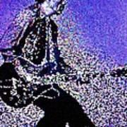 Chuck Berry Rocks Abstract Art Print