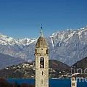 Church And Alps Art Print